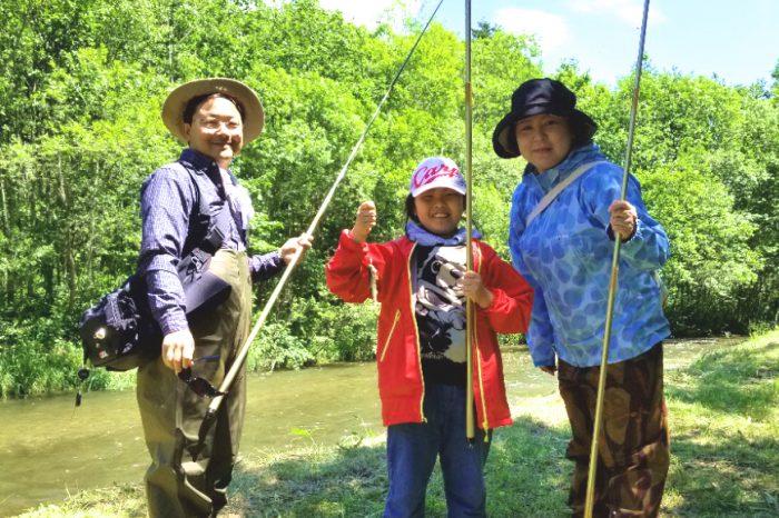 知床渓流釣り