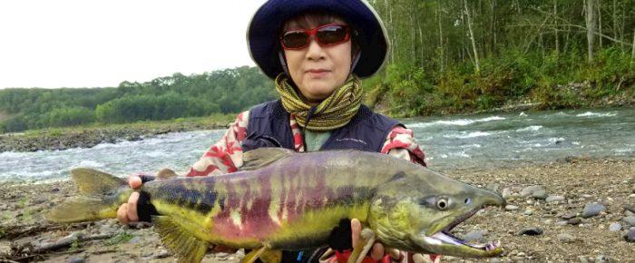 忠類川のサーモン